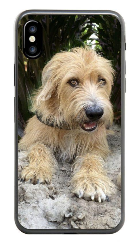 smartphonehoesje met foto hond