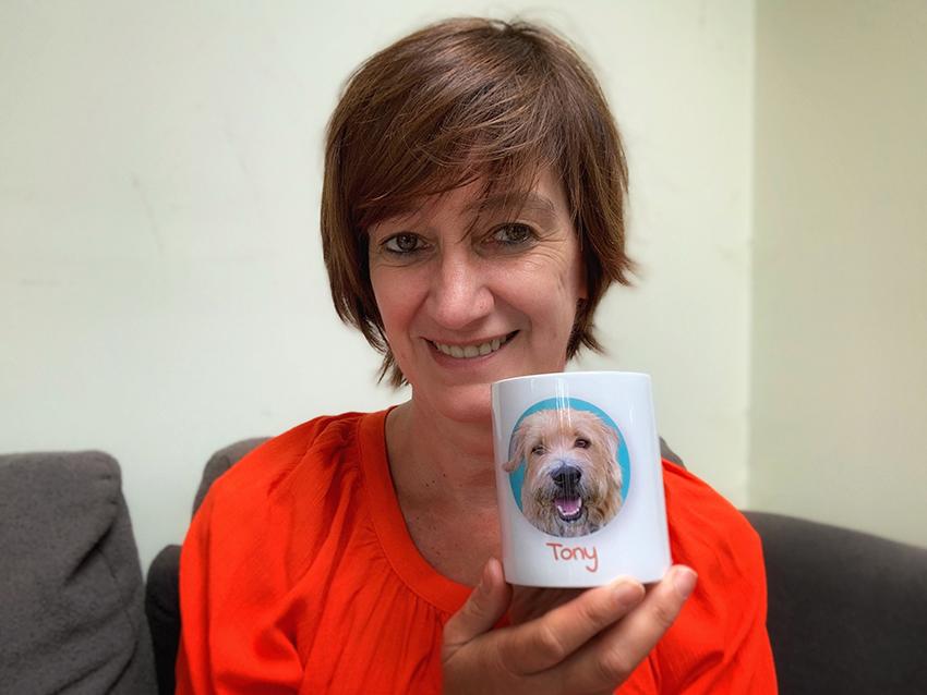 koffiekop met foto hond